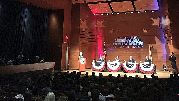 Democratic candidates for governor hold their first debate. (Stockton University photo)