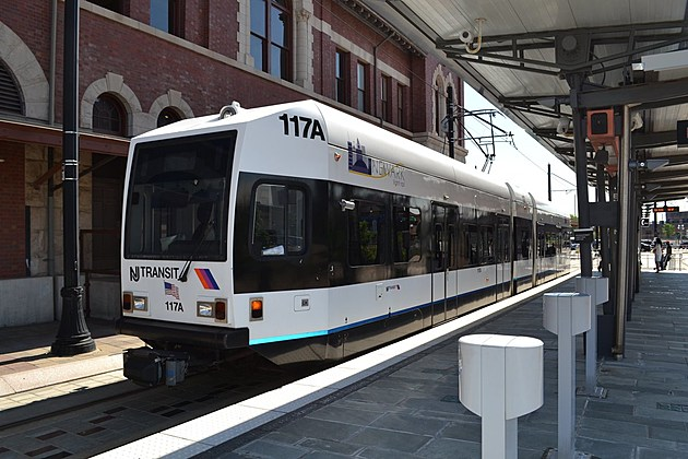 NJ Transit light rail train