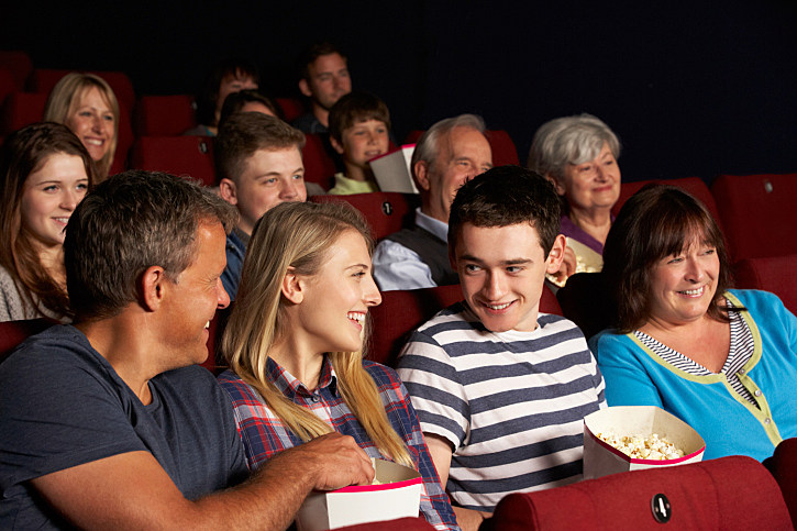 family at movies Mother's Day gifts NJ