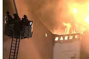 Fire at Buffalo Farms Freezer and Cold Storage in Hammonton