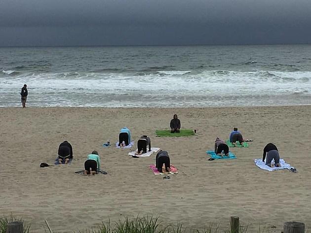 Beach yoga in Seaside Park