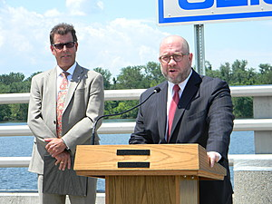 NJDOT Commissioner Richard Hammer and Attorney General Christopher Porrino