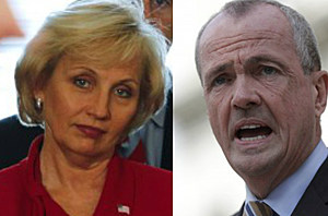 Lt. Gov. Kim Guadagno and Phil Murphy (AP Photo)