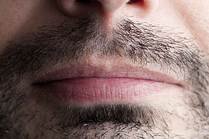 Stubble Around a Male Mouth