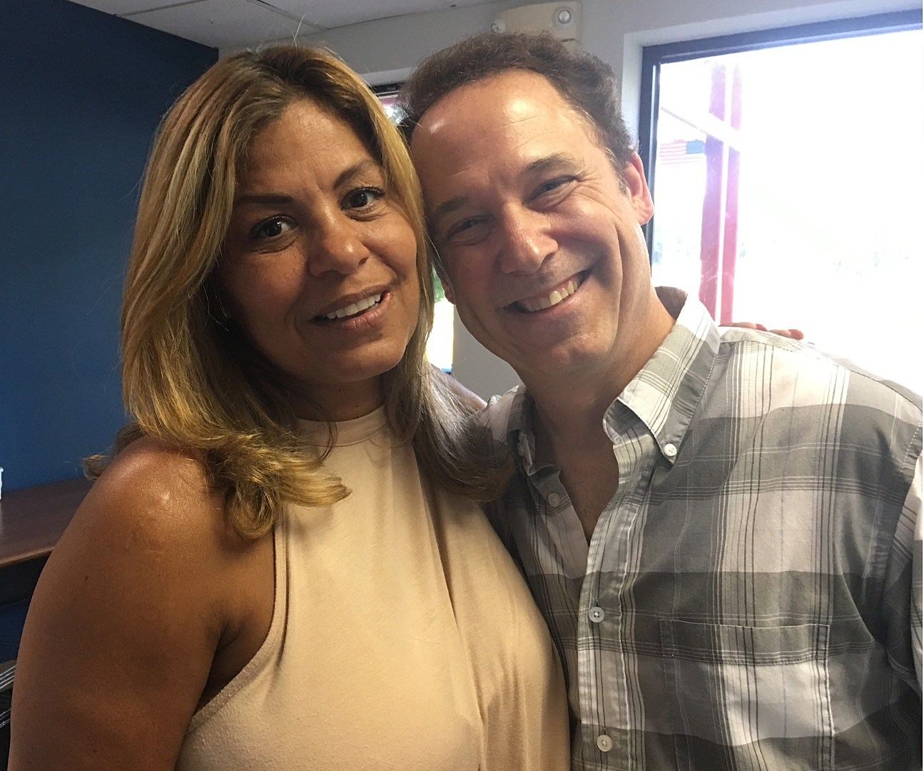 With Brenda K. Starr, moments before the Wednesday night show! (Don Tandler photo).