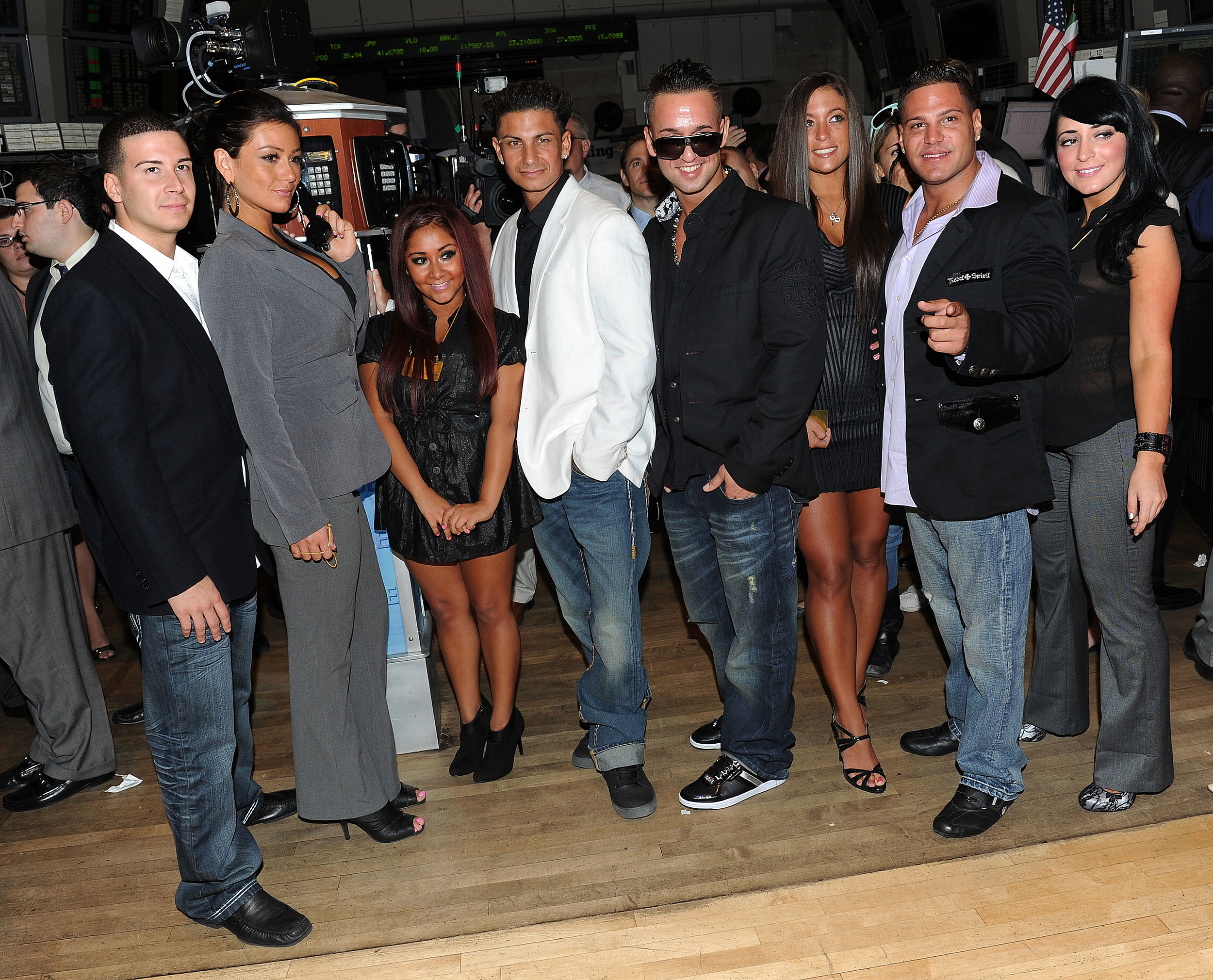 """Cast Of """"Jersey Shore"""" Rings The NYSE Opening Bell - July 27, 2010"""
