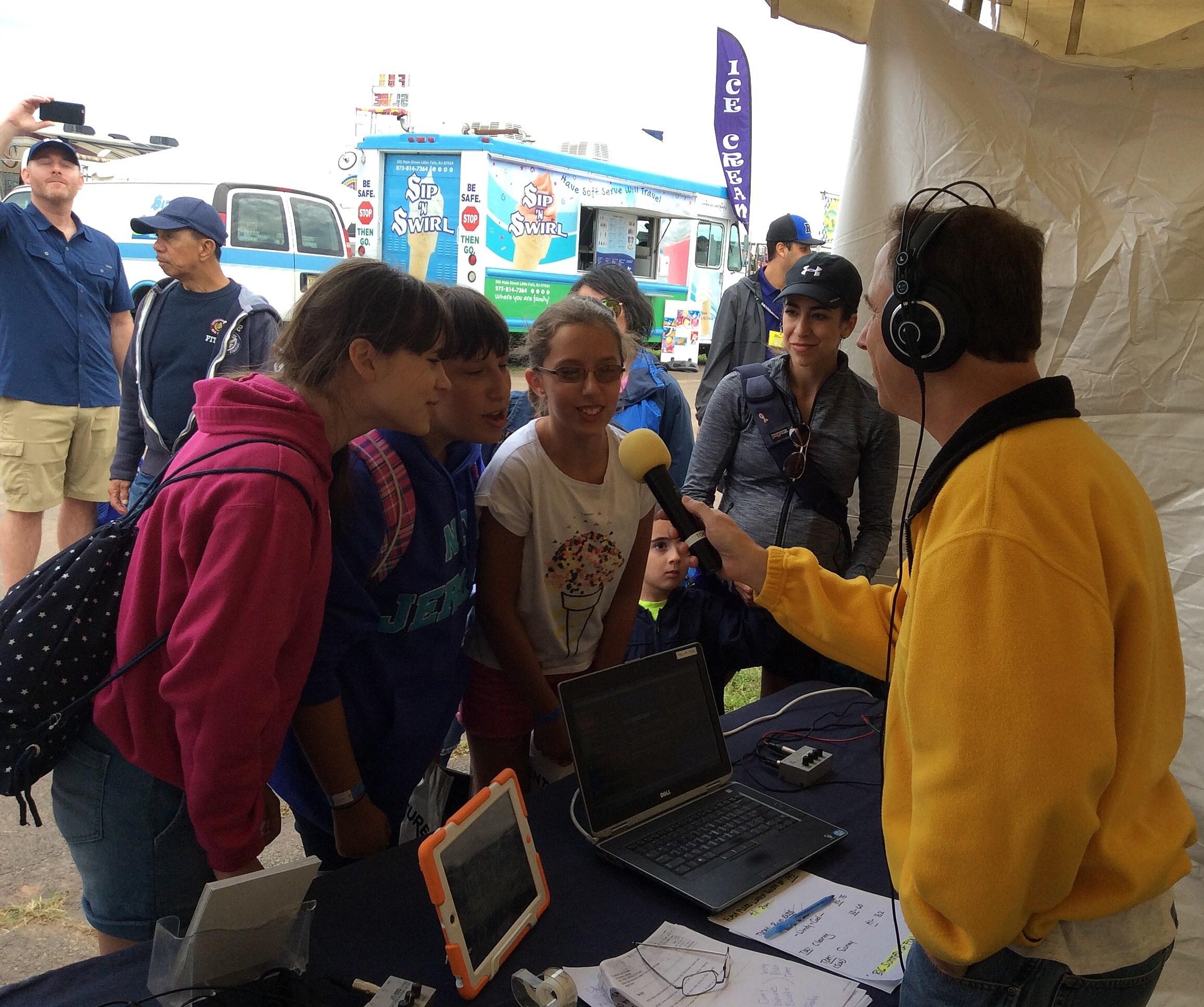 Talking with our Byrum NJ fans! (Sierra Quinn photo).