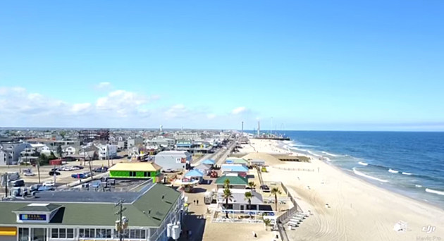 Seaside Park and Seaside Heights as seen from a drone