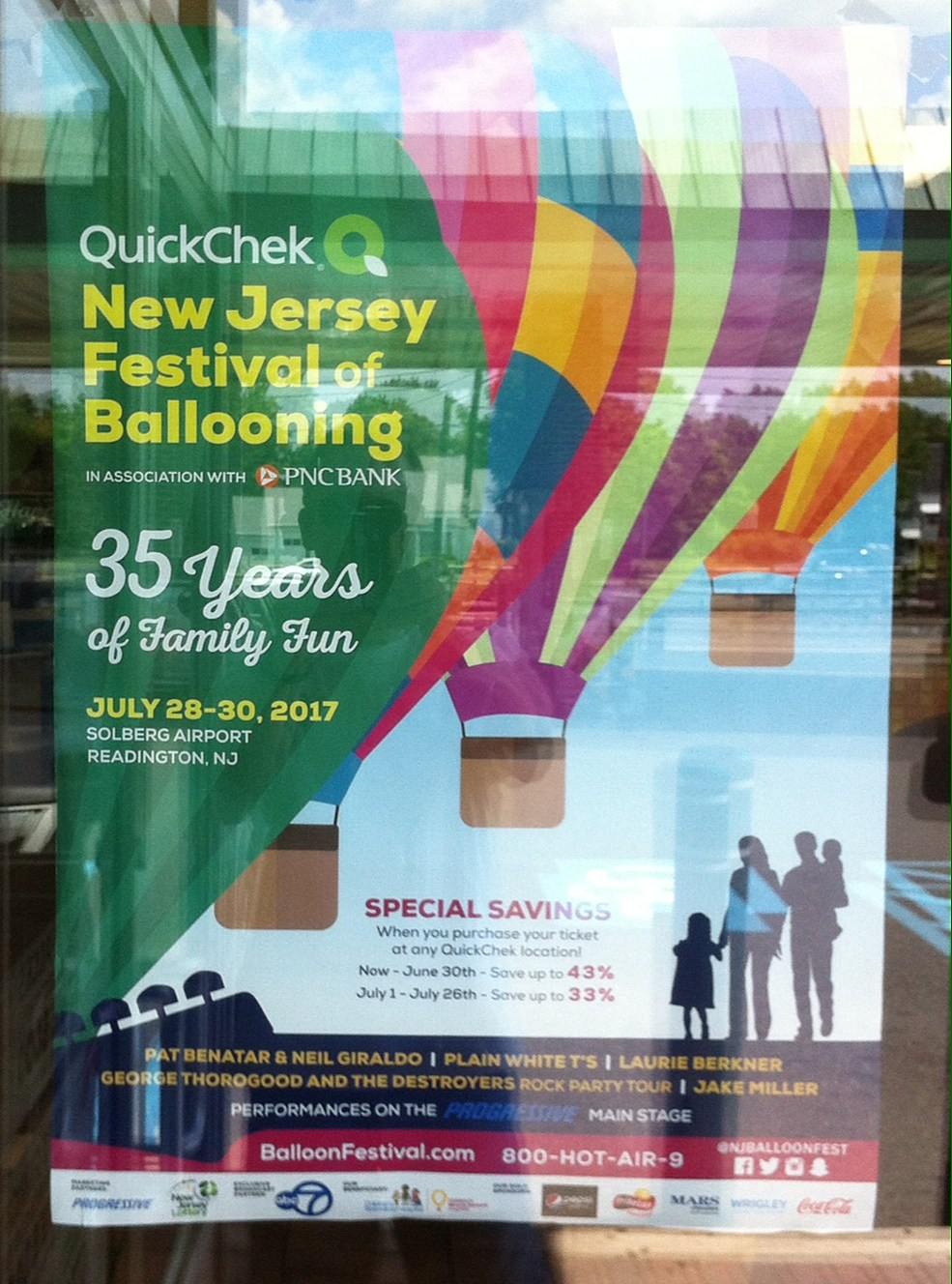 Balloon Festival poster at my neighborhood Quick Chek! (Craig Allen photo).