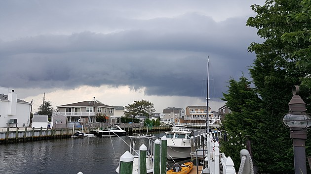 A stormy sky over the lagoons of Manahawkin, N.J.  (Dan Zarrow, Townsquare Media)