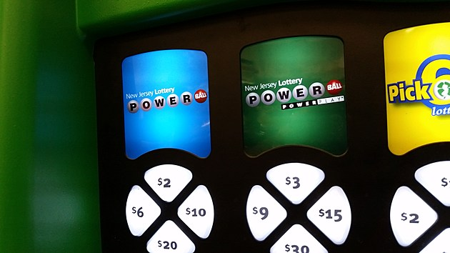 Powerball buttons on a NJ Lottery machine at a Wawa on Route 37 in Toms River