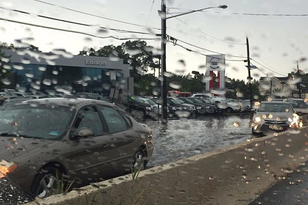 Edison experienced some truly torrential rain and dramatic flash flooding along Route 1 on Wednesday.  (Photo: Doe Vallone Bassano)