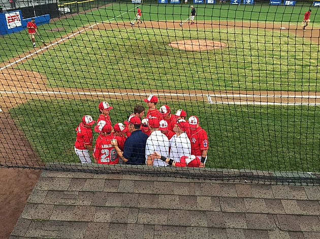 Holbrook Little League before Tuesday's game vs. New York