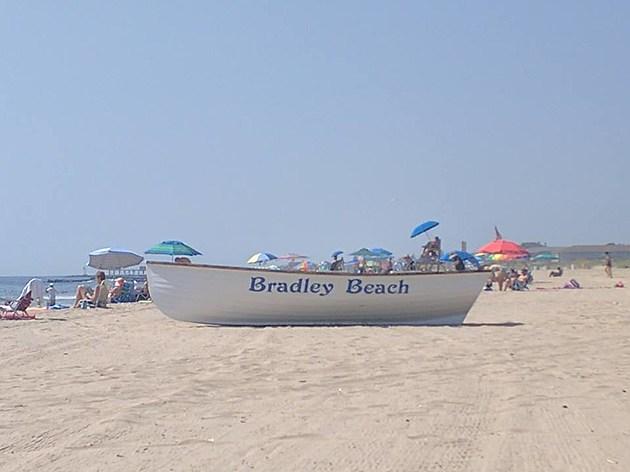 The beach in Bradley Beach