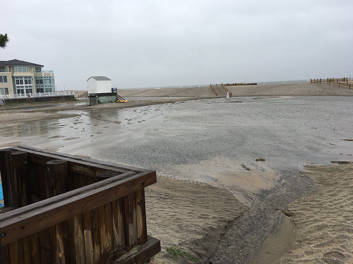 Lake Christie Returns To Margate Beach With Huge Flooding Behind