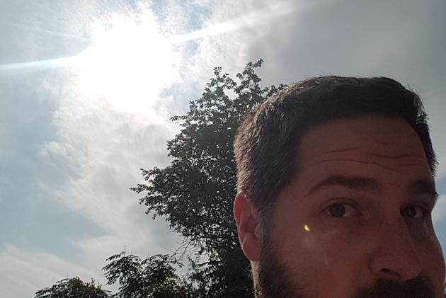 My lame attempt at an eclipse selfie.  #NoFilter #NoFun (Dan Zarrow, Townsquare Media)