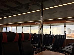 Nearly empty NY Waterway ferry Betsy Ross