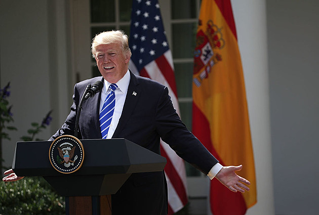 President Trump Holds Joint Press Conference With Prime Minister Of Spain