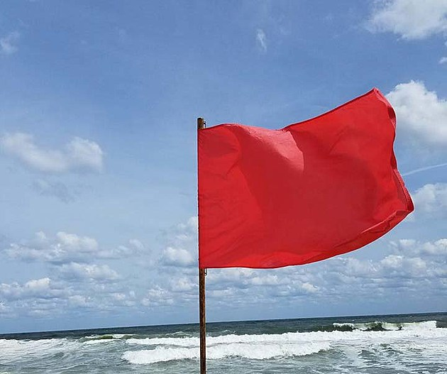 Rip current risks are high on Friday