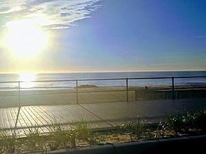 A beautiful October sunrise over the Atlantic Ocean.  (Bud McCormick)