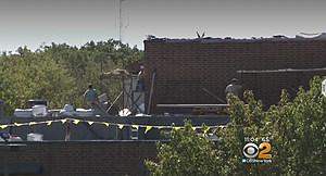 Roof work at Pinelands Regional High School
