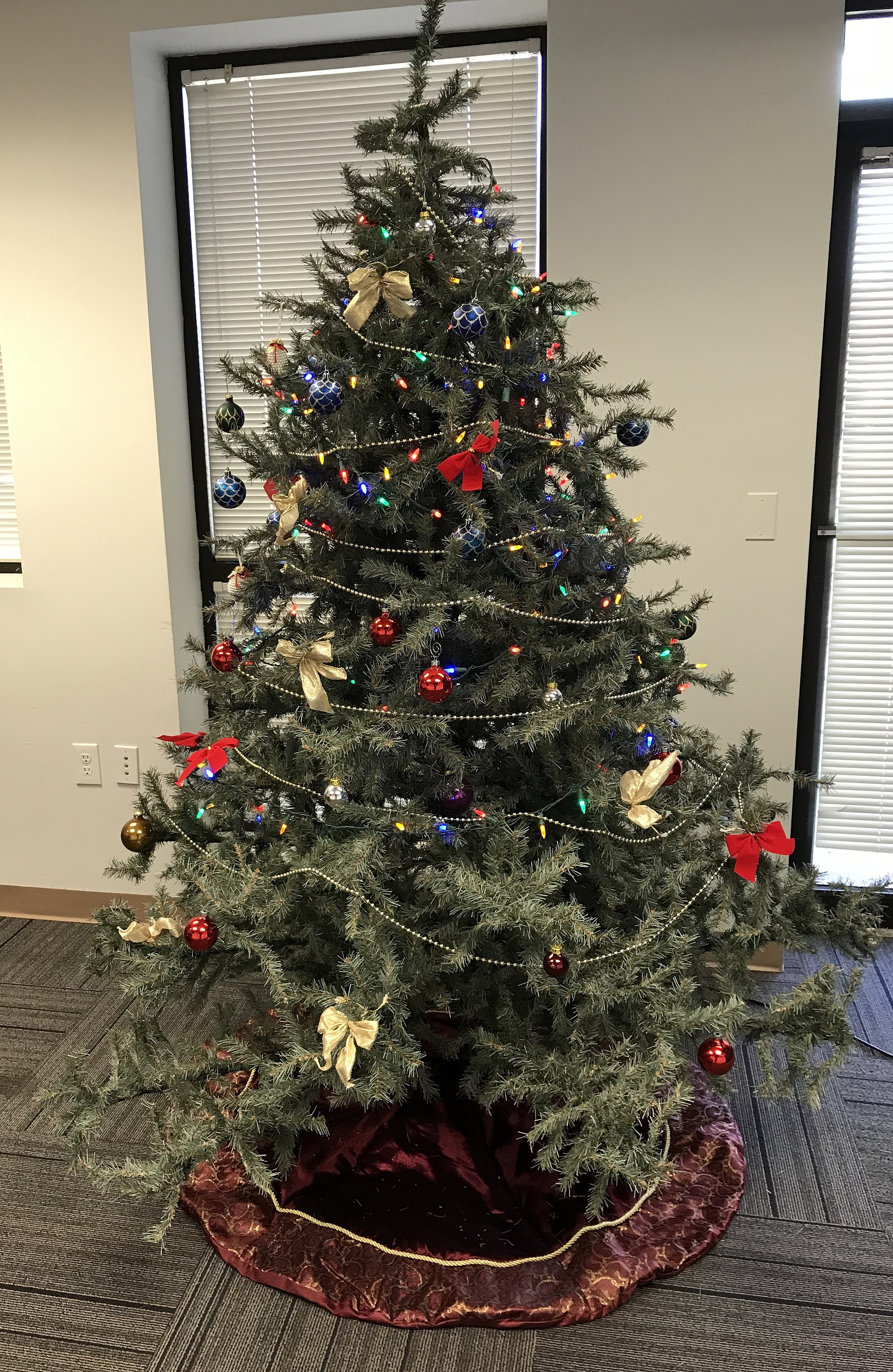 Rate our office christmas tree for Office christmas trees