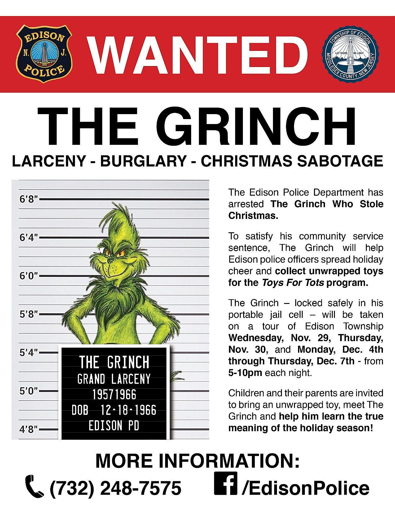 Grinch arrest in Edison caught on video