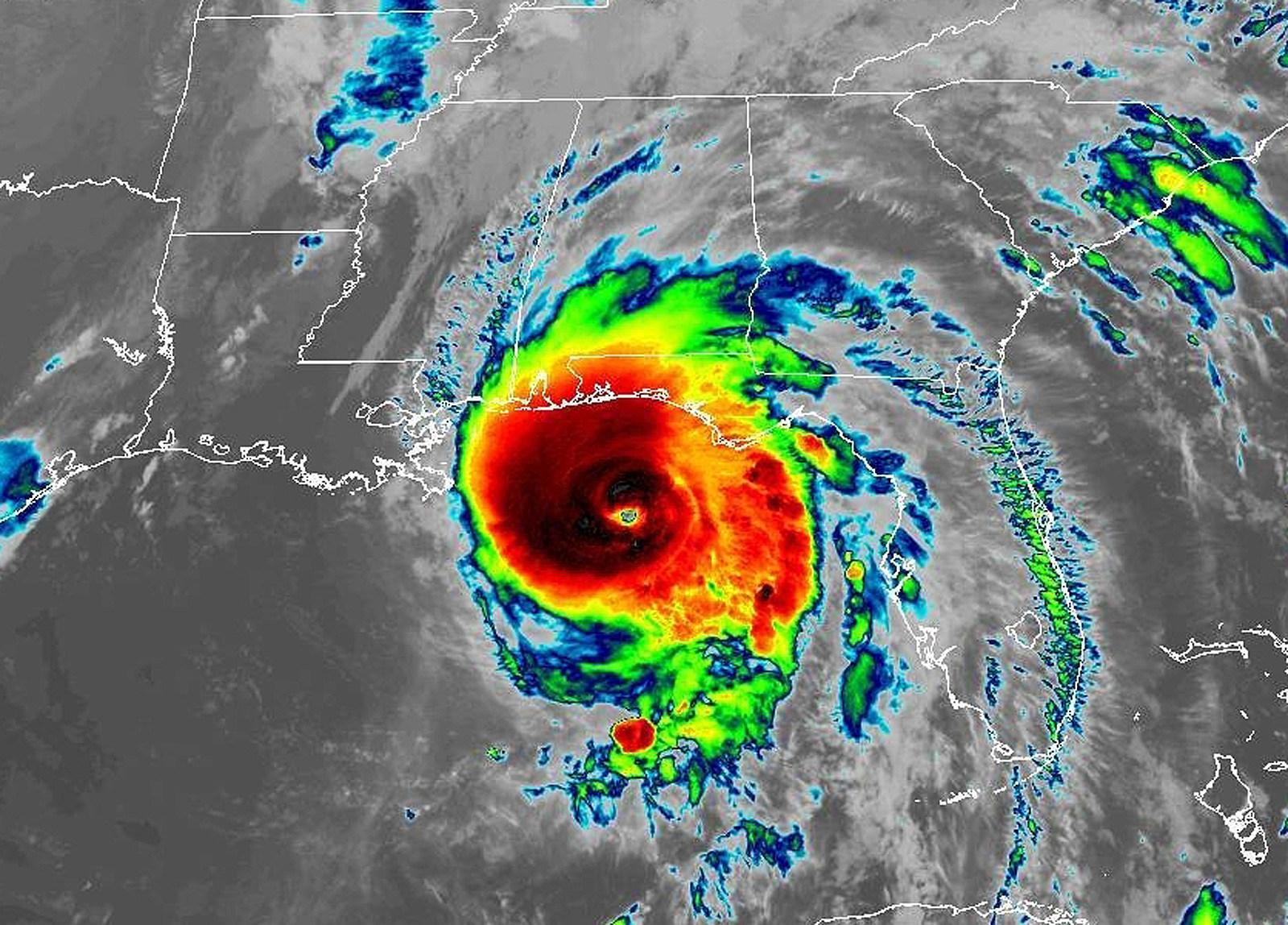 Satellite view of Hurricane Michael