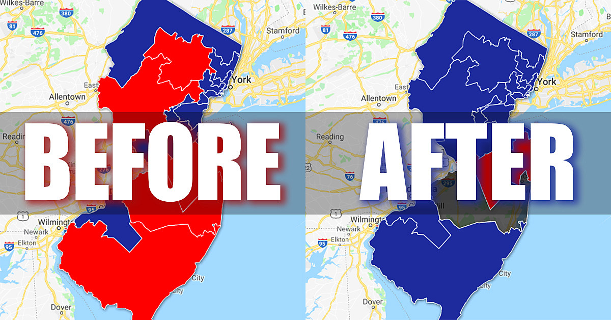 This Is What The Blue Wave Looks Like In New Jersey Map