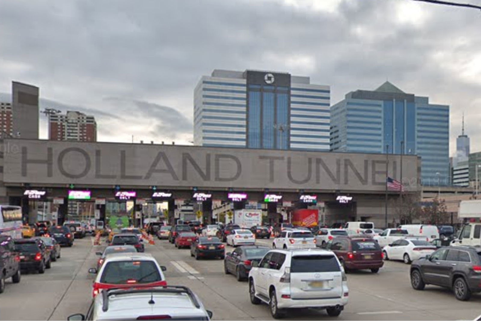 Holland Tunnel toll plaza (Google Maps)