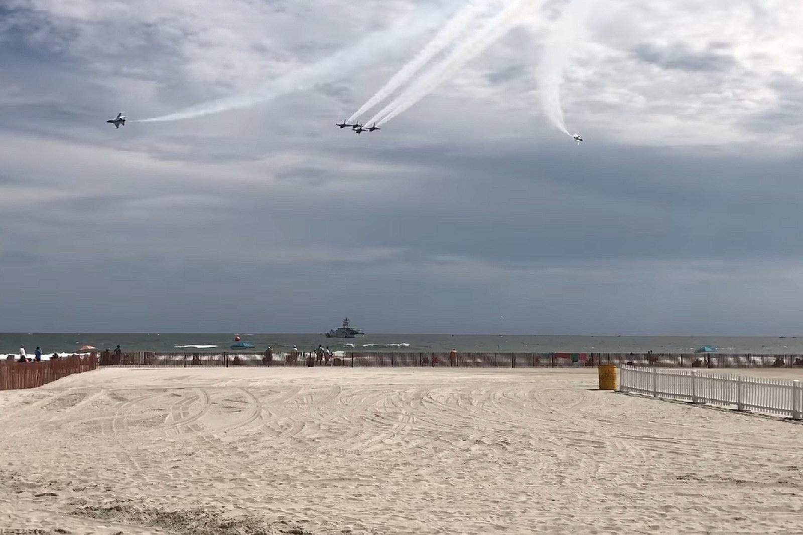 Practice run for Atlantic City Air Show on Tuesday